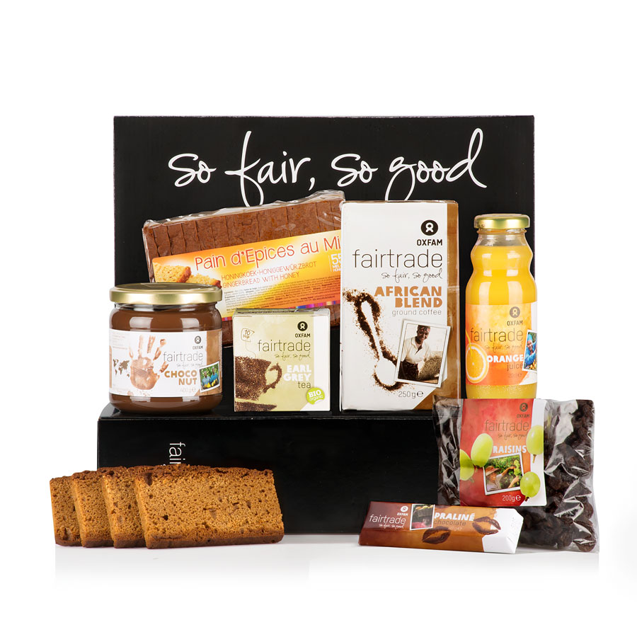 oxfam fair trade coffret cadeau petit d jeuner pour 2 cadofrance. Black Bedroom Furniture Sets. Home Design Ideas